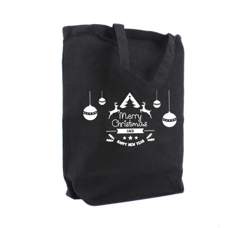 Happy Deer, noir tote